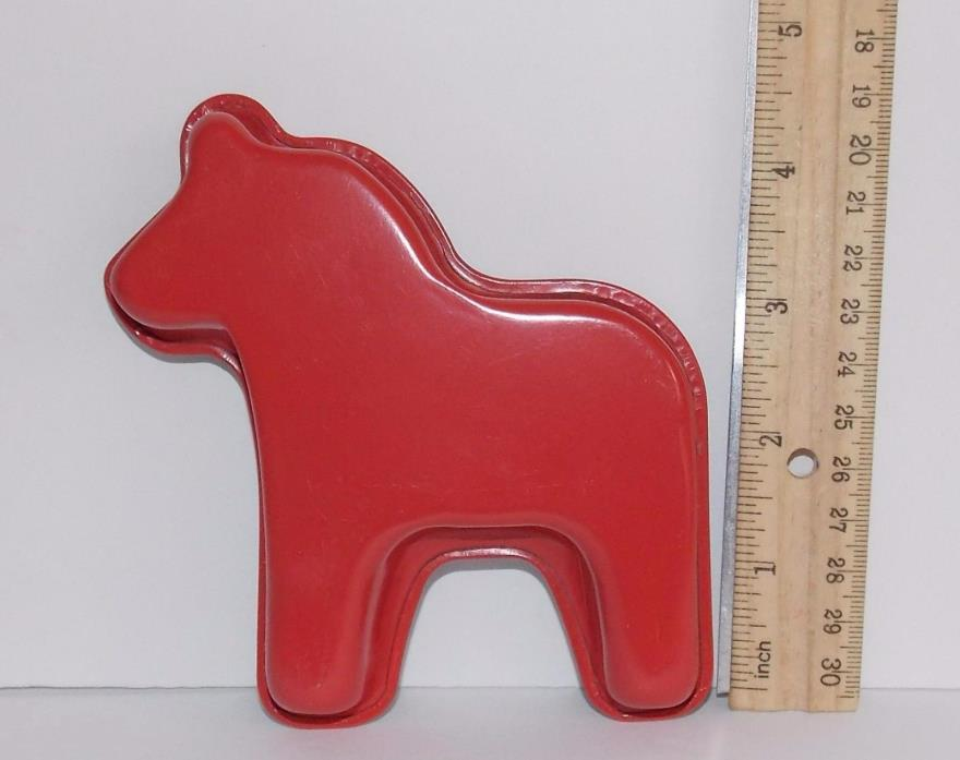 IKEA Swedish Dala Horse Mini Cake Pan Jello Cookie Muffin Unused