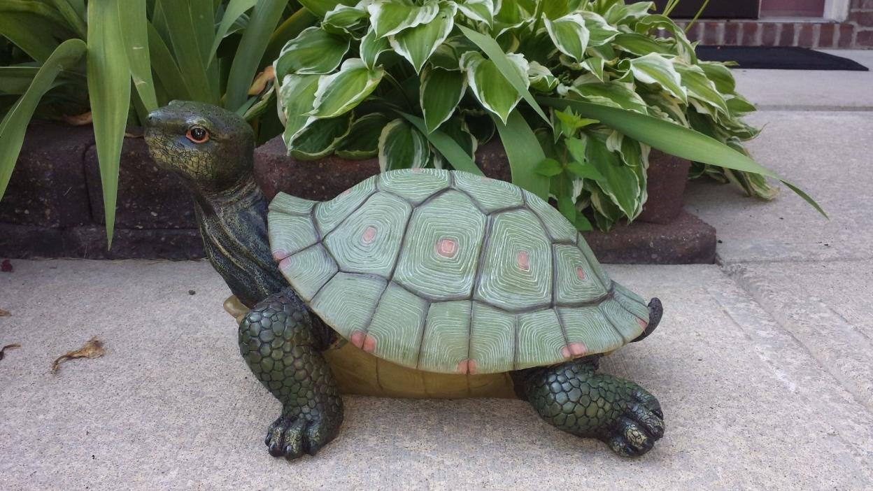 LARGE TURTLE STATUE GARDEN PATIO YARD HOME HOUSE DECOR