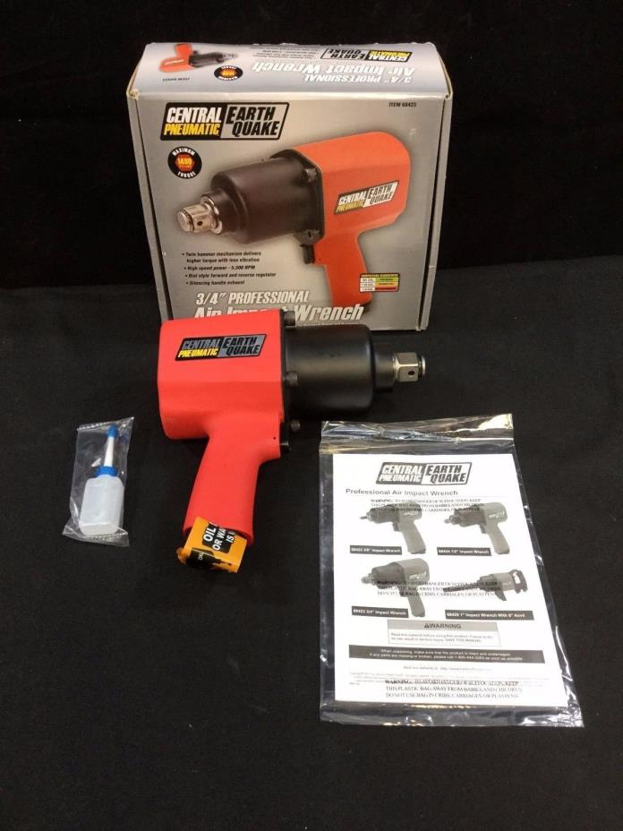 Central Pneumatic Earth Quake 3/4 in. Professional Air Impact Wrench - 68423