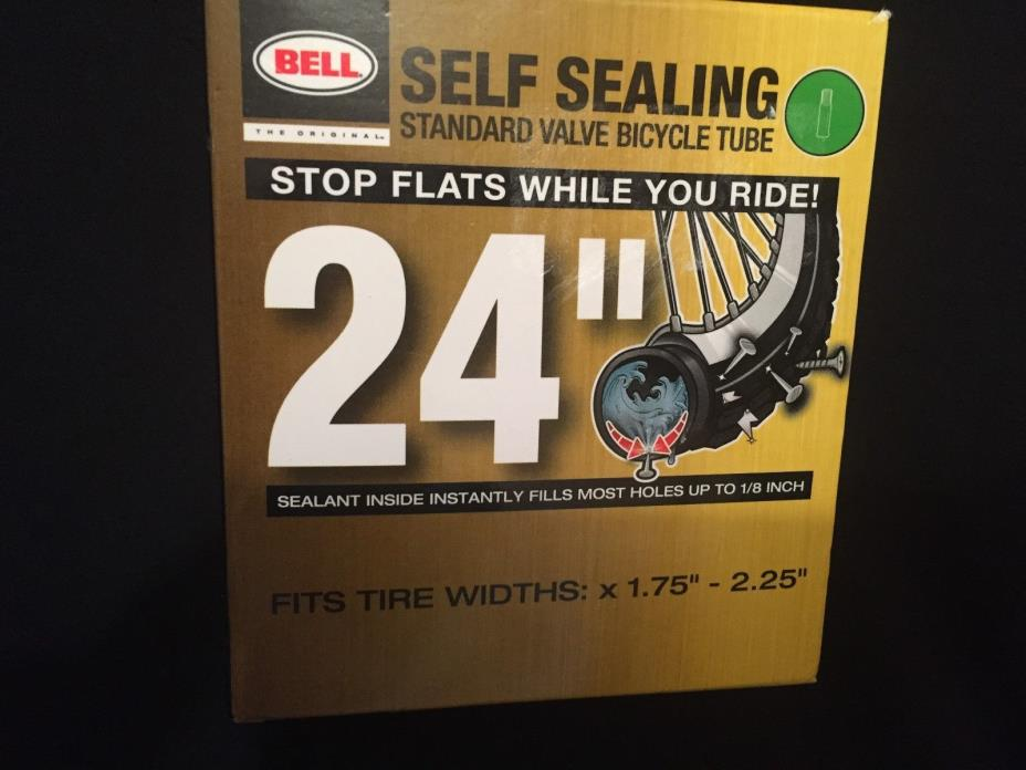 BELL Self Sealing BIKE TUBE 24 inch fits 24 x 1.75 to 2.25