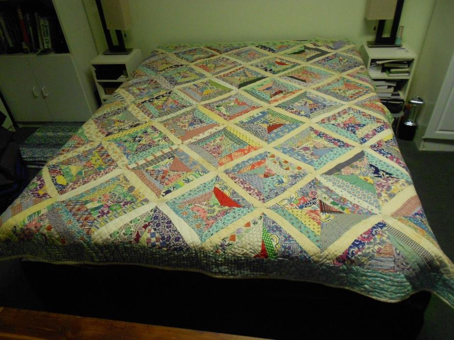 VINTAGE HAND SEWN QUILT FULL SIZE