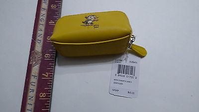 COACH Yellow Leather Small Change Purse Wallet 64770 Baseman