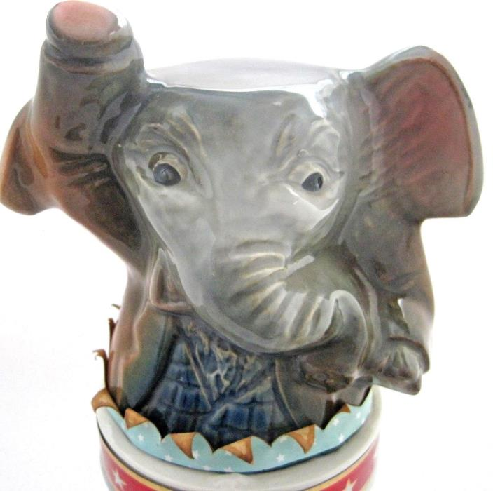 Vintage Jim Beam Bicentennial Republican Elephant Decanter Empty No Hat
