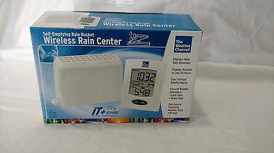 The Weather Channel Wireless Rain Center, La Crosse Tech, Self-Empty New in Box
