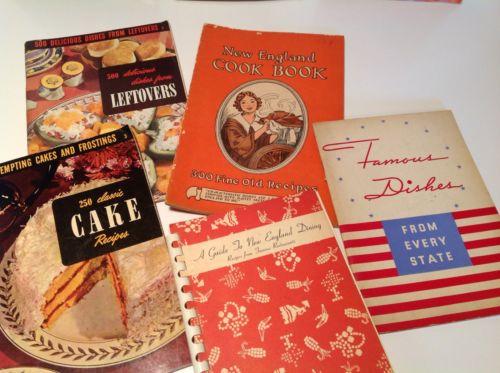 vintage recipe booklets