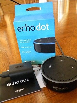 Echo Dot (Black) 2nd Generation 2016 in Box Alexa Perfect Condition