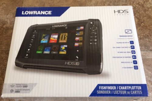 Lowrance HDS-9 Carbon with TotalScan Transom Mount Transducer M/H  000-13683-001
