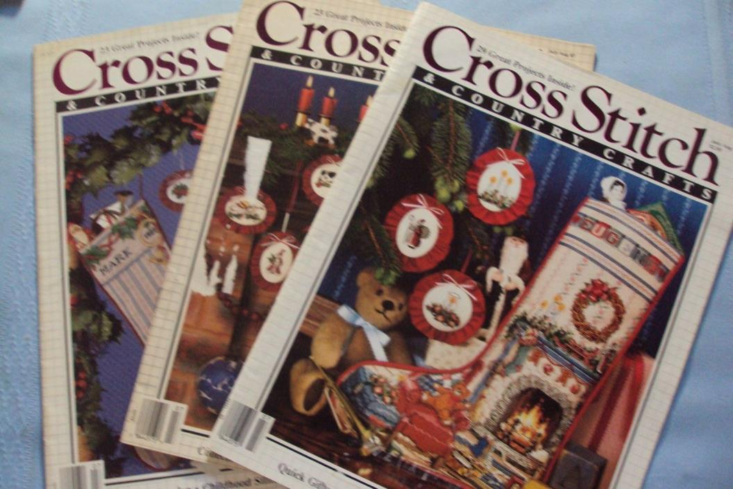 3 CROSS STITCH MAGAZINES    (r)