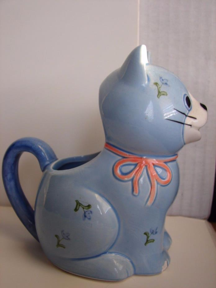 Otagiri blue cat pitcher Ceramic  made in Japan
