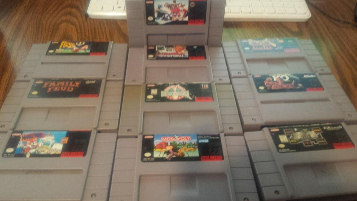super nes lot, 10 great family games