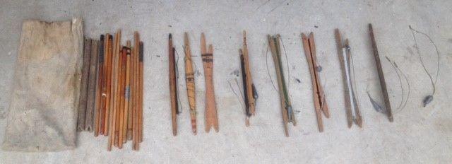 Antique / Vintage ice fishing tip ups / gear / poles