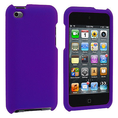 Purple Hard Case Accessory for iPod Touch 4th Gen 4G 4