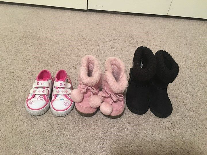 lot of size 5 toddler girl shoes