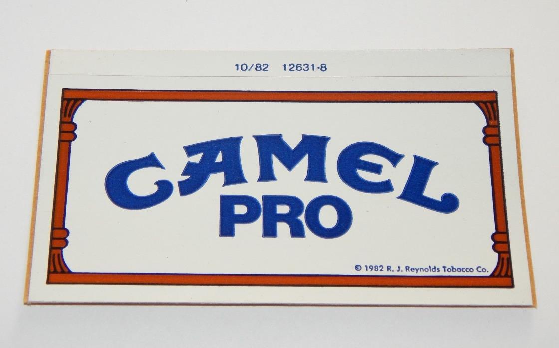 (2) CAMEL PRO VINTAGE STICKERS AMA MOTORCYCLE DIRT TRACK RACING ORIGINAL NOS