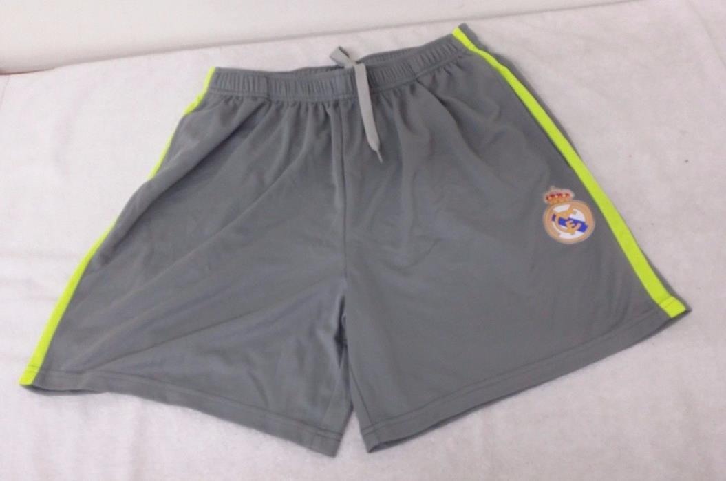 Real Madrid FC 2-Tone Color (Gray & Yellow) Men's Shorts