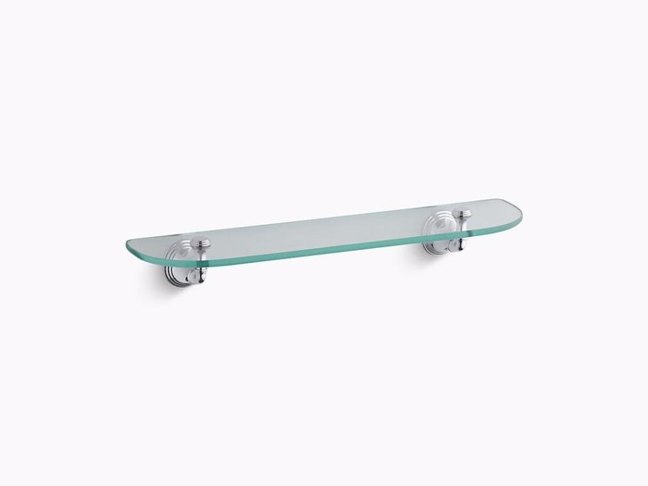 KOHLER K-10563-CP Devonshire Glass Shelf, Polished Chrome