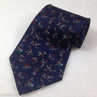 ADOLFO Blue  Silk Mens Neck Tie