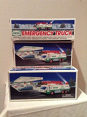 Lot of 3- 1996 HESS Emergency Trucks