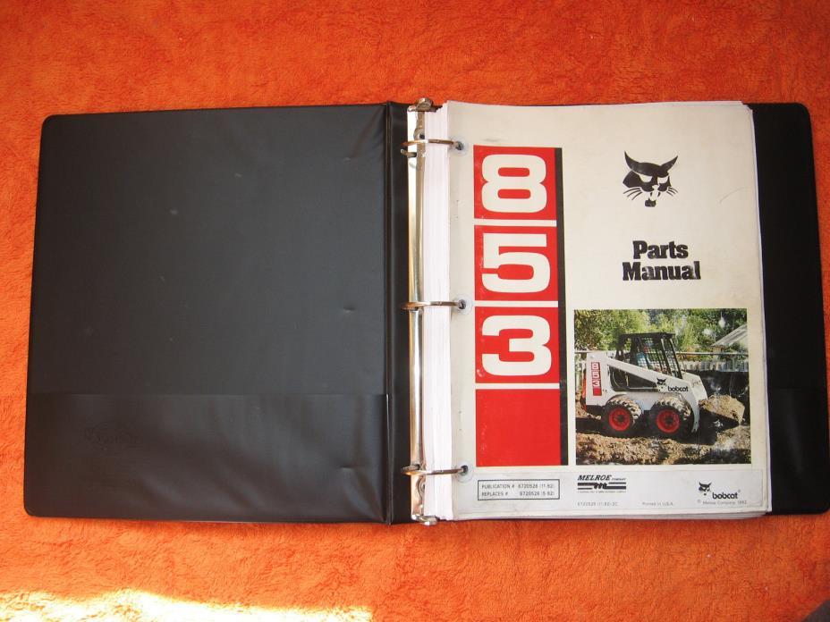 Bobcat 853 Parts Manual, Skid Steer, Skidsteer, part# 6720526