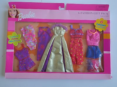 BARBIE 6 FASHION GIFT PACK OUTFITS SET # 68209 SEALED 2001