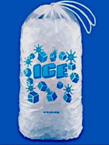 Only $14.50 (50 Count) Ice Machine Bags W/ Drawstrings 10 Pound Capacity 10 Lbs