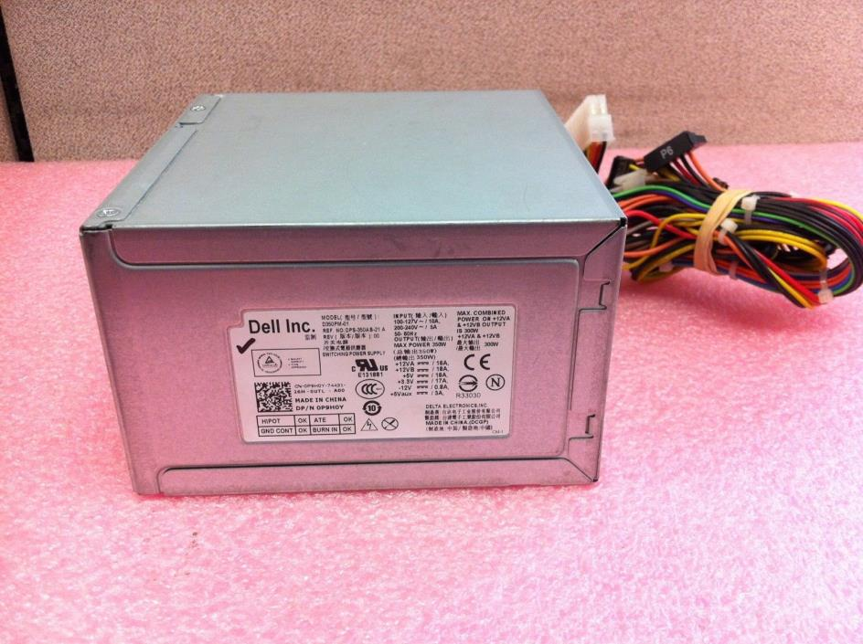Genuine Dell Vostro 470 Mini Tower D350PM-01 P9H0Y 350W Power Supply - PS1240