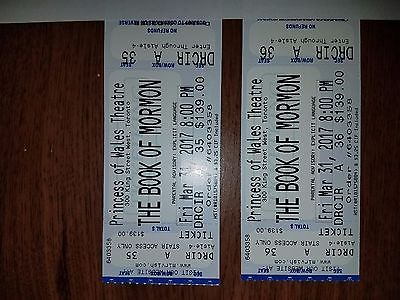 2 Tickets The Book Of Mormon 3/31/17 Princess Of Wales Theatre AWESOME SEATING!!