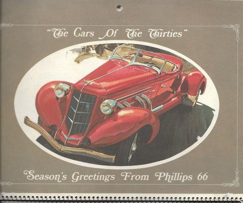 Vintage 1972 Calendar Car of the Thirties Phillips 66