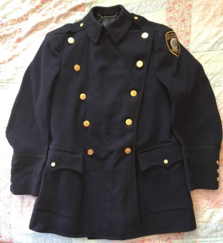 Rare Vintage 1950s NYPD Transit Police Wool Jacket Obsolete Made By Smith-Gray