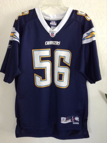 Authenic NFL Chargers Jersey #56 Merriman  Men's Size Large