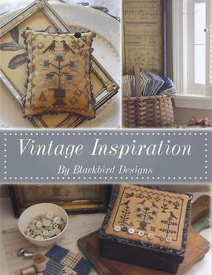 VINTAGE INSPIRATION BLACKBIRD DESIGNS CROSS STITCH BOOK OF FOUR DESIGNS