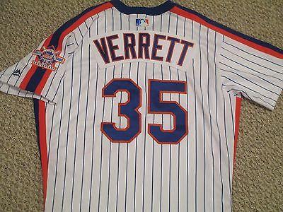 Logan Verrett sz 46 #35 2016 New York Mets TBTC 1986 Mets game used jersey MLB
