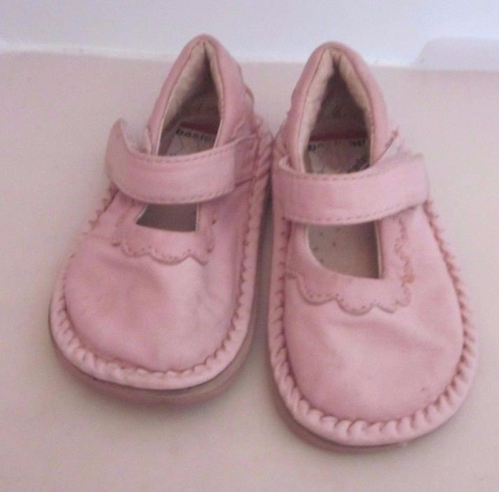 Basically Barefoot Girls Soft Pink Leather Mary Jane Shoes 4.5 Toddler VGUC