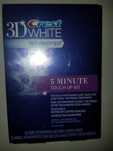 Crest 3D White Whitestrips 5 Minute Touch Up Kit 56 Strips 28 Treatments Ex 4/17