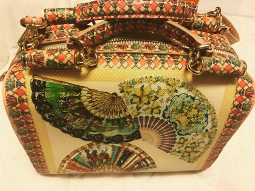 Dolce Gabbana Fan Print Shoulder Bag