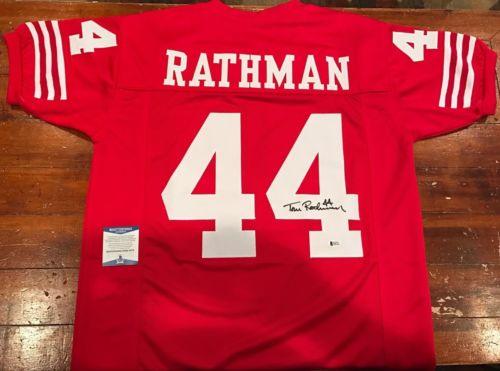 Tom Rathman Autographed San Francisco 49ers Custom Jersey Beckett