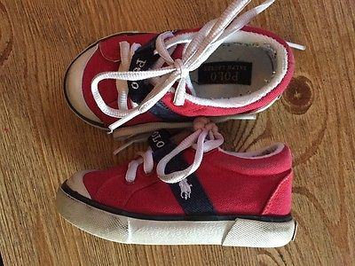 Polo Ralph Lauren size 7 toddler boys red shoes sneakers
