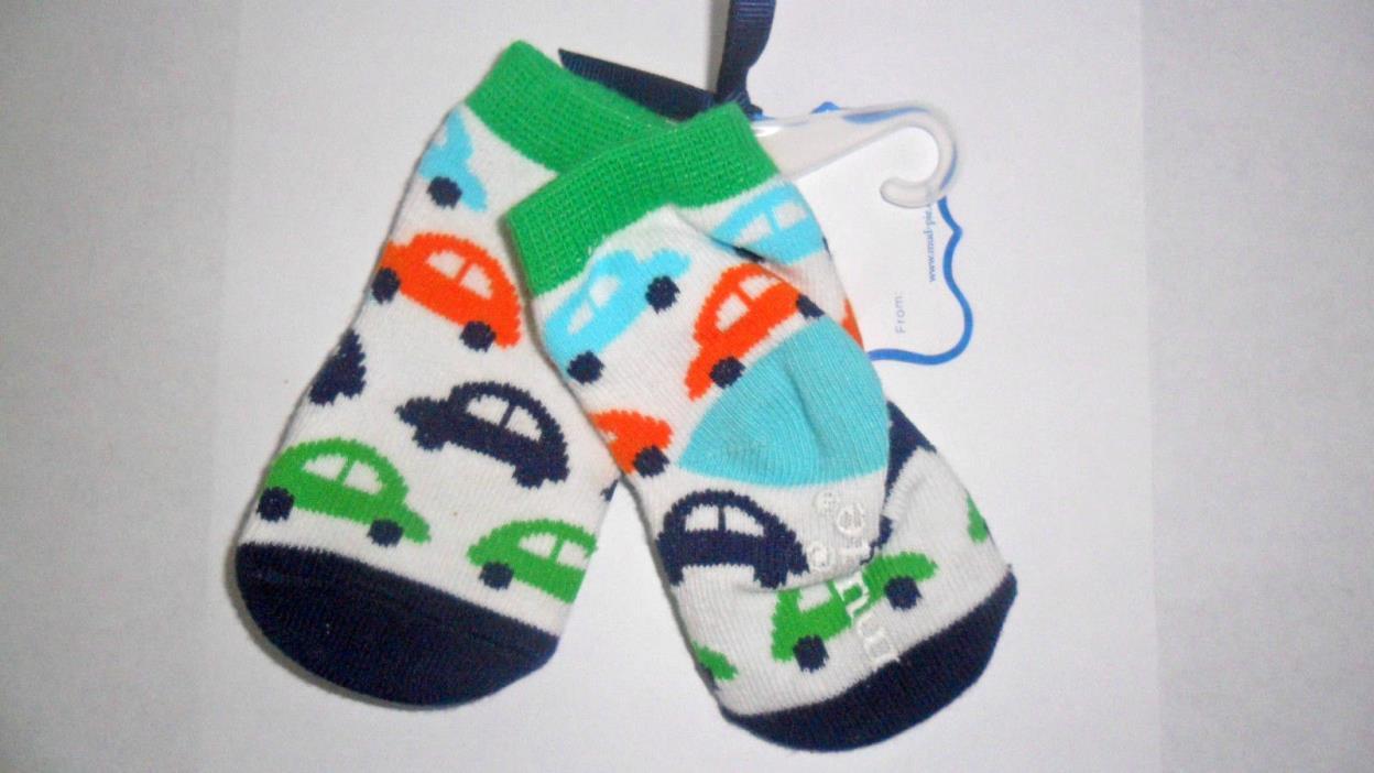 Mudpie Boy's Bug Car Socks Infant