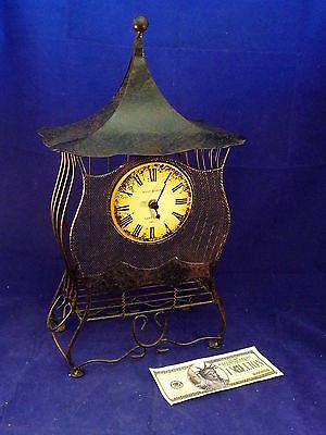 Clock Wire Pagoda Bird Cage Clock 17
