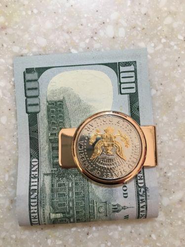 USA Half Dollar Coin Money Clip Eagle Side