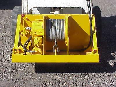 skid steer hydraulic winch