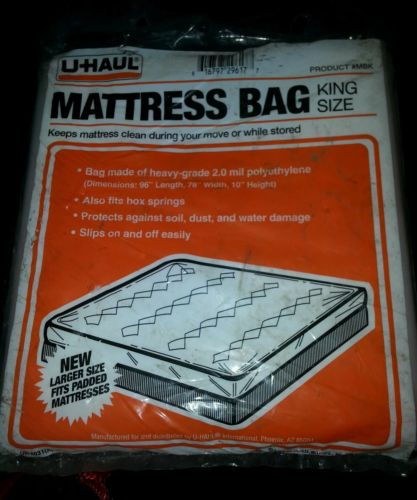 U-haul Mattress bag for King Size Bed New fits Padded