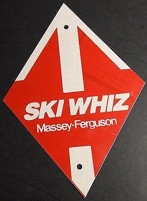 VINTAGE MASSEY-FERGUSON SKI WHIZ SNOWMOBILE TIN REFLECTIVE TRAIL MARKER  (809)