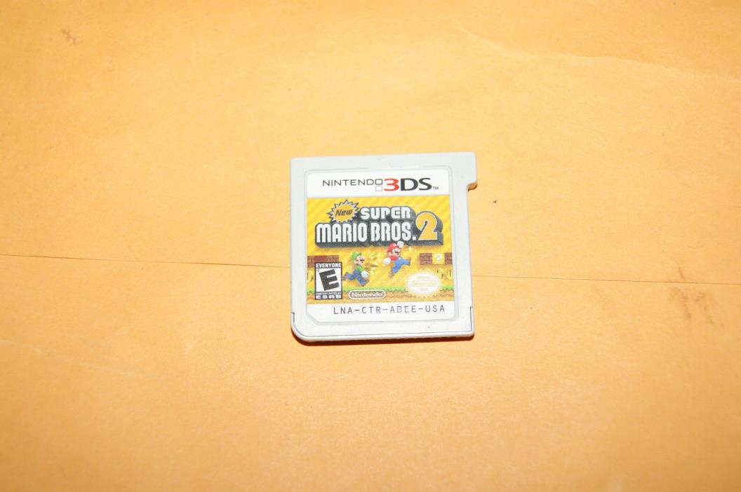 New Super Mario Bros. 2 (Nintendo 3DS) XL 2DS Game Cart Only FREE SHIP USA