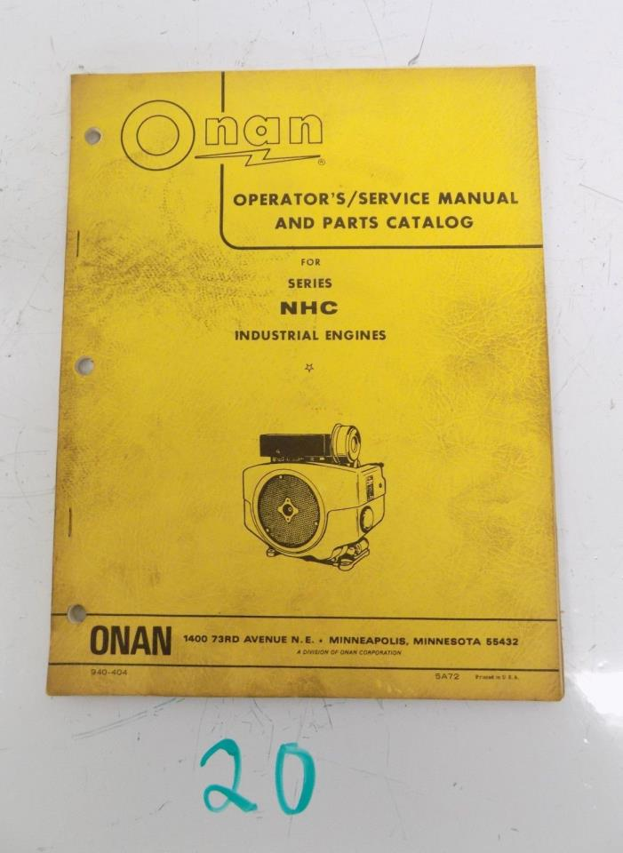 Onan Engine Parts Catalog : Onan engine manuals for sale classifieds