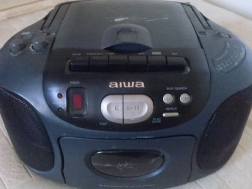 Aiwa CSD-EX110U Compact Design CD, AM/FM Radio Cassette Player Recorder, Boombox