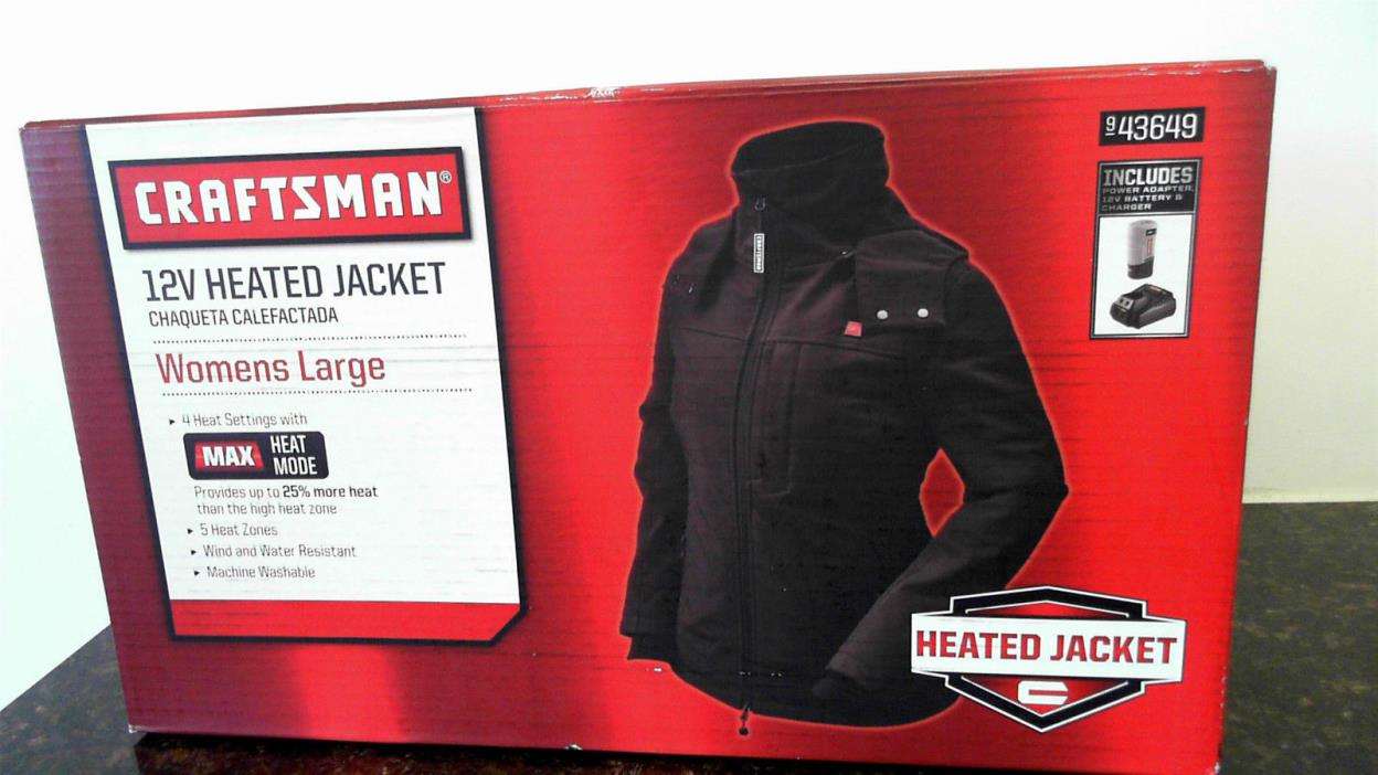 Craftsman Womens Heated Jacket  - 943649 - Large - NEW