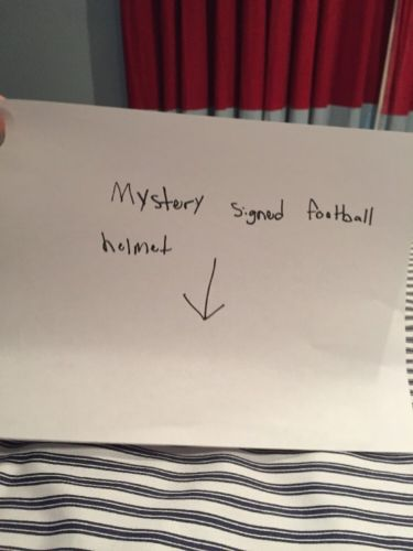 Mystery Autographed Mini Football Helmet