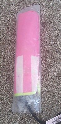 Brand New Victoria's Secret Pink & White Striped Compact Umbrella