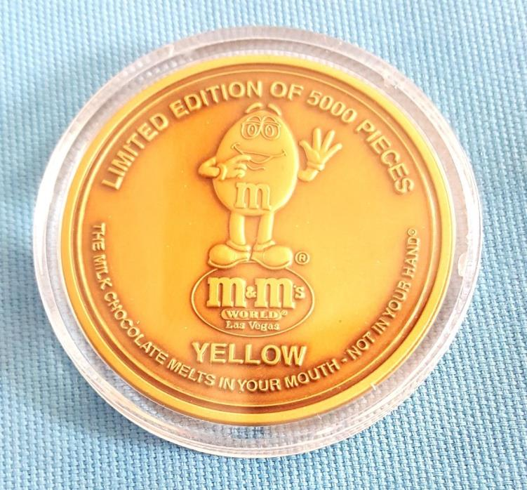 M&M's World Las Vegas Nevada Bronze Token Coin Serialized #970/5000